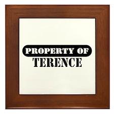 Property of Terence Framed Tile
