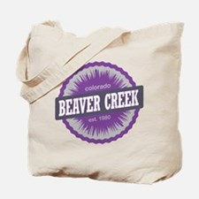 Beaver Creek Ski Resort Colorado Purple Tote Bag