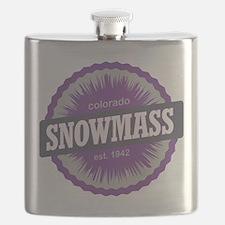Snowmass Ski Resort Colorado Purple Flask