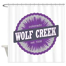 Wolf Creek Ski Resort Colorado Purple Shower Curta