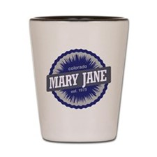 Mary Jane Ski Resort Colorado - Blue Shot Glass