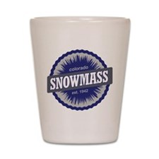 Snowmass Ski Resort Colorado - Blue Shot Glass