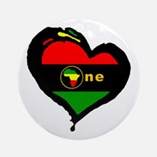 Afro Rasta Afrika Ornament (Round)