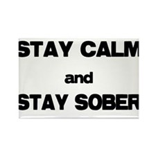 Stay Calm Stay Sober Magnets