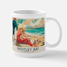 Whitley Bay, England, Travel, Vintage Poster Mugs