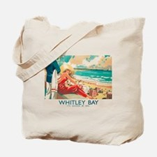 Whitley Bay, England, Travel, Vintage Poster Tote