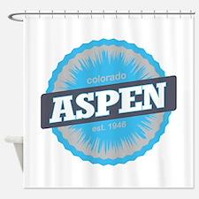 Aspen Ski Resort Colorado Sky Blue Shower Curtain