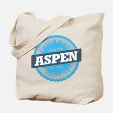 Aspen Ski Resort Colorado Sky Blue Tote Bag