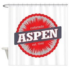 Aspen Ski Resort Colorado Red Shower Curtain