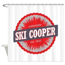 Ski Cooper Ski Resort Colorado Red Shower Curtain