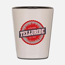 Telluride Ski Resort Colorado Red Shot Glass
