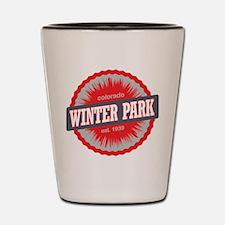 Winter Park Ski Resort Colorado Red Shot Glass