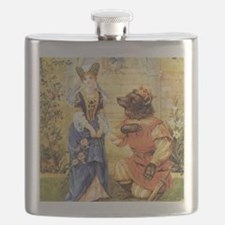 Vintage Beauty and the Beast Flask