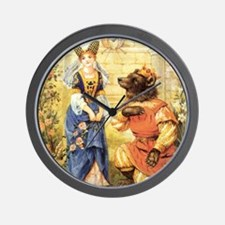 Vintage Beauty and the Beast Wall Clock