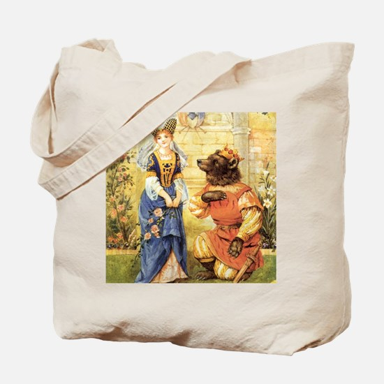 Vintage Beauty and the Beast Tote Bag