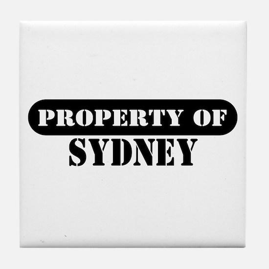Property of Sydney Tile Coaster