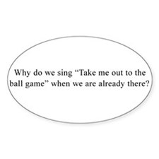 Baseball Quote Oval Decal