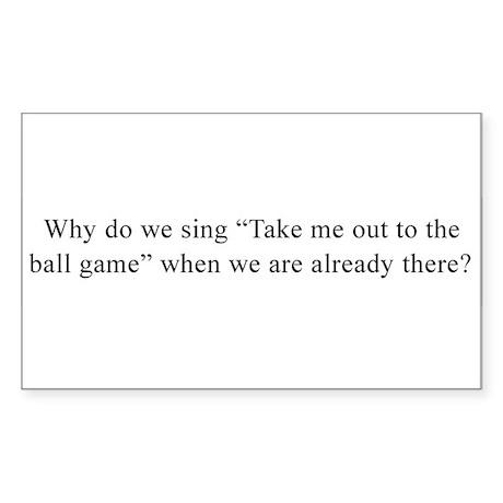 Baseball Quote Rectangle Sticker