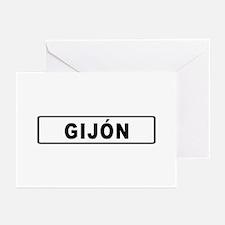 Roadmarker Gijón - Spain Greeting Cards (Package
