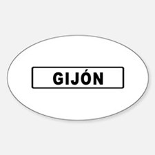 Roadmarker Gijón - Spain Oval Decal