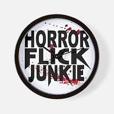 Horror Flick Junkie Wall Clock