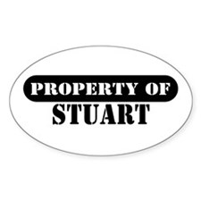 Property of Stuart Oval Decal