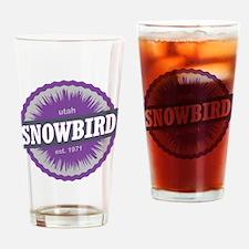 Snowbird Ski Resort Utah Purple Drinking Glass
