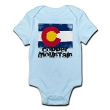 Copper Mountain Grunge Flag Infant Bodysuit