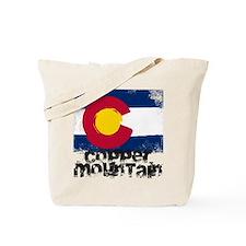 Copper Mountain Grunge Flag Tote Bag