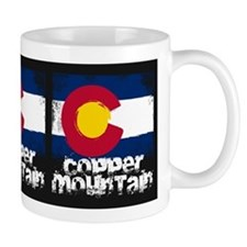 Copper Mountain Grunge Flag Small Mug