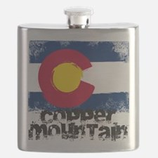 Copper Mountain Grunge Flag Flask