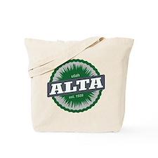 Alta Ski Resort Utah Green Tote Bag