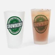 Snowbird Ski Resort Utah Green Drinking Glass