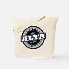 Alta Ski Resort Utah Black Tote Bag