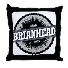 Brian Head Ski Resort Utah Black Throw Pillow