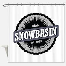 Snowbasin Ski Resort Utah Black Shower Curtain