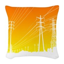 Power lines Woven Throw Pillow