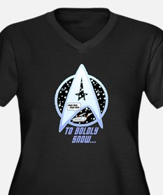 To Boldly Snow Plus Size T-Shirt