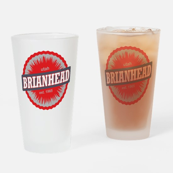 Brian Head Ski Resort Utah Red Drinking Glass