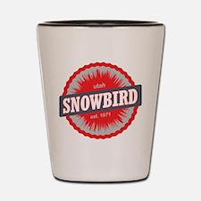 Snowbird Ski Resort Utah Red Shot Glass