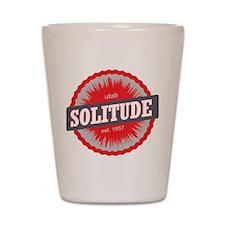Solitude Ski Resort Utah Red Shot Glass