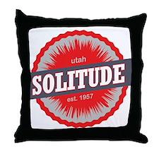 Solitude Ski Resort Utah Red Throw Pillow