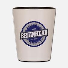 Brian Head Ski Resort Utah Blue Shot Glass