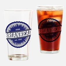 Brian Head Ski Resort Utah Blue Drinking Glass