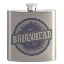 Brian Head Ski Resort Utah Blue Flask