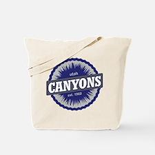 The Canyons Ski Resort Utah Blue Tote Bag