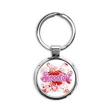 Sweetest Round Keychain