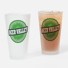 Deer Valley Ski Resort Utah Lime Green Drinking Gl