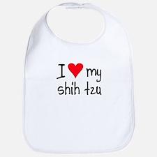 I LOVE MY Shih Tzu Bib