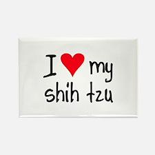 I LOVE MY Shih Tzu Rectangle Magnet (10 pack)
